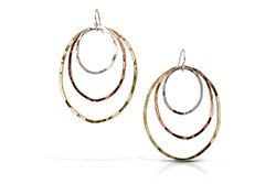Dawn Earrings on white background