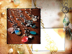 Jewelry image with antique surface overlay